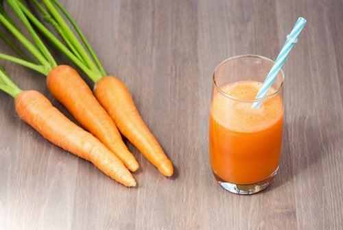 carote e succo di carote
