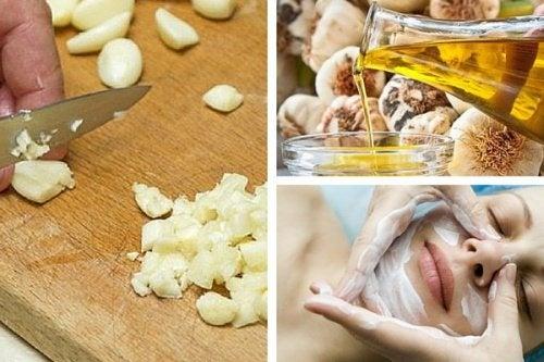 Ringiovanire il volto con delle maschere all'aglio