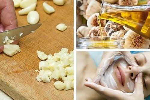 Maschere facciali all'aglio per ringiovanire il viso