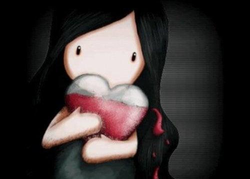 bambina con cuore