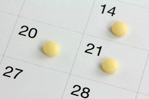 calendario e pillole contraccettive