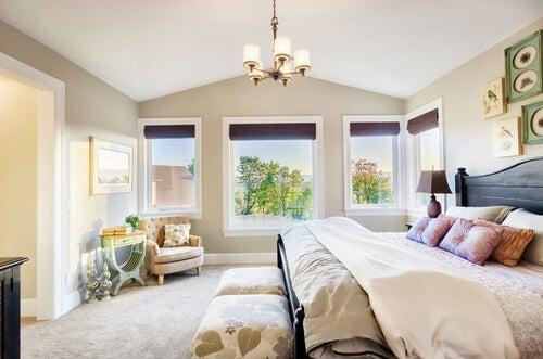 camera da letto arieggiata