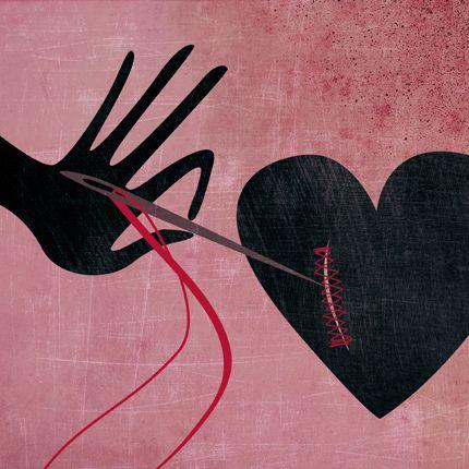 cuore cucito