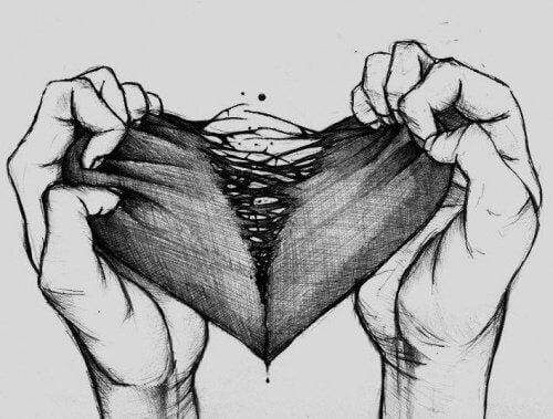 cuore spezzato e toccare il fondo
