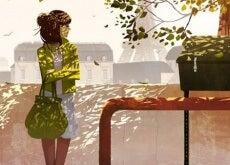 donna che aspetta con pazienza