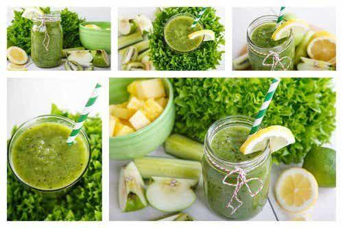 Frullato rilassante con ananas, menta, mela e limone