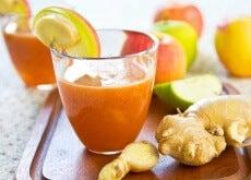 frullato carota, mela, zenzero