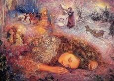 ragazza sogna