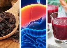 uva passa, fegato, succo di barbabietola