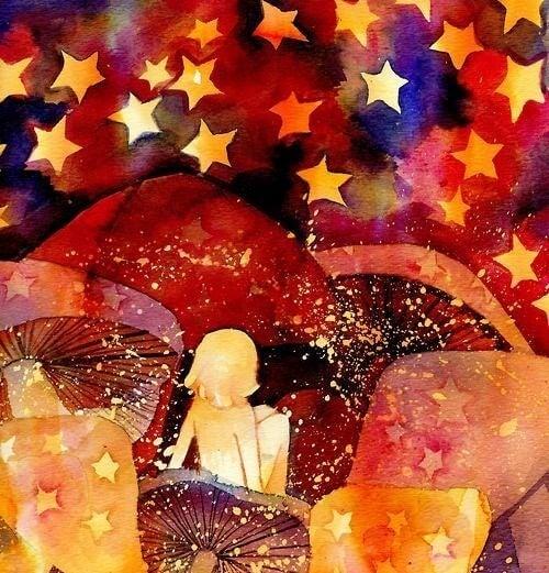bambina-che guarda-le-stelle