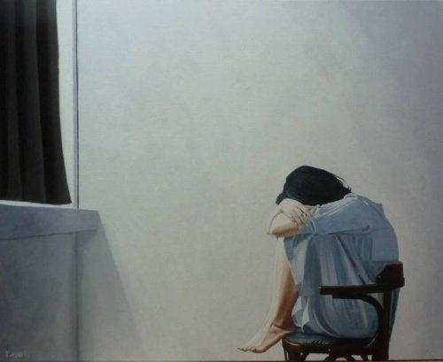 lutto donna che piange