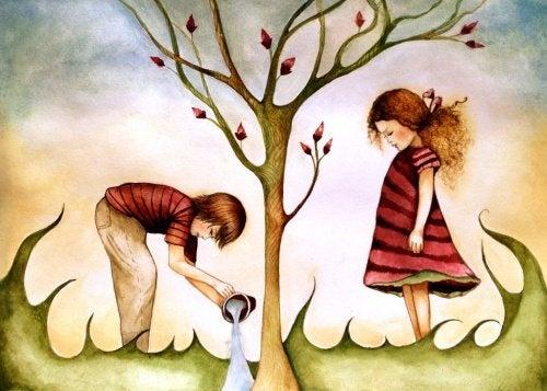 regalo bambini che fanno crescere un albero