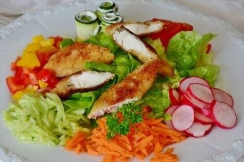 Petto di pollo per eliminare il grasso viscerale