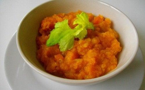 Vellutata di zucca e carota