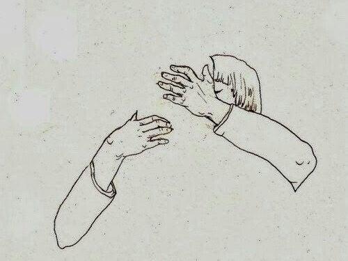 Abbraccio e bacio per allontanare le paure