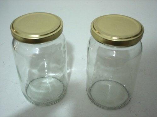 barattoli di vetro contenitore luminoso