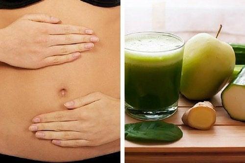 Ventre piatto con la dieta detox