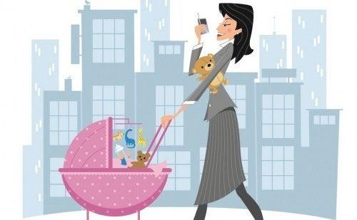 La lotta giornaliera di una mamma lavoratrice