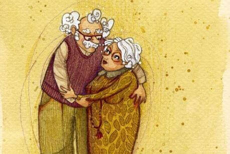 un nonno e nonna