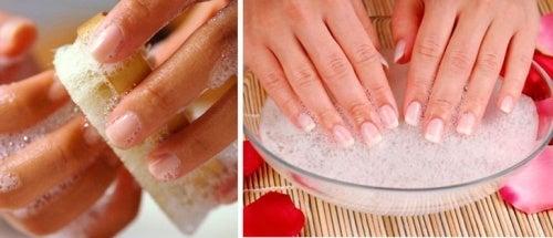 Pulire le unghie prima della manicure