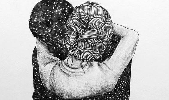 abbraccio tra coppia quando lo merito meno