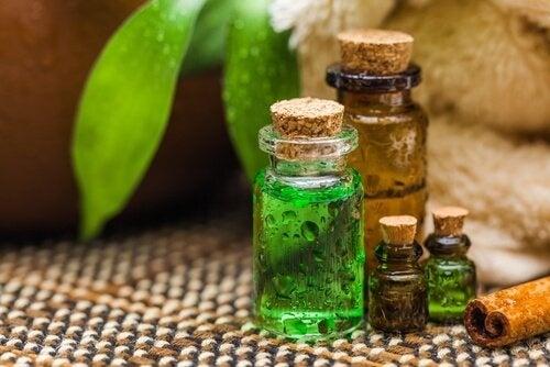 Ampolle con oli naturali