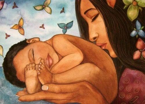 donna-con-neonato gravidanza