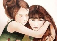 sorella due-ragazze-si-abbracciano