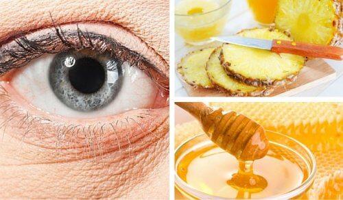 Maschera a base di ananas per ridurre le rughe sotto gli occhi