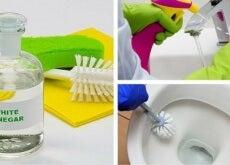 pulire il bagno con aceto bianco