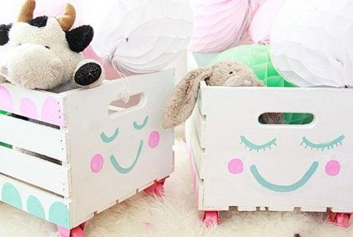 scatole per giocattoli ordine