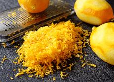scorza del limone tritata