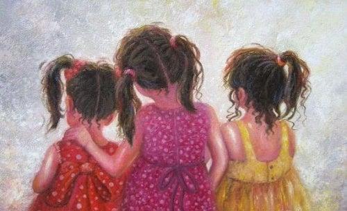 tre bambine