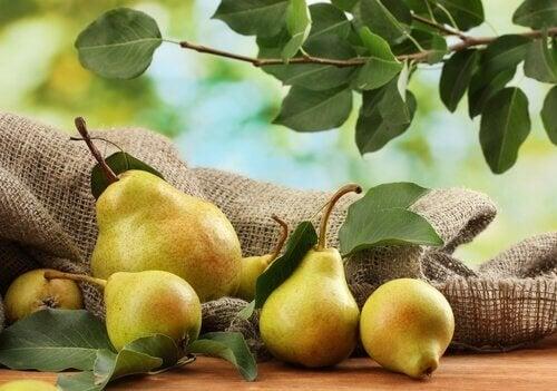 Benefici della pera per il gonfiore