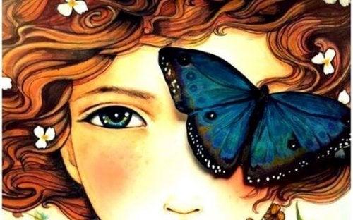 bambina-con-farfalla grazie e per favore