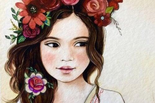 bambina-con-fiori-sui-capelli grazie e per favore