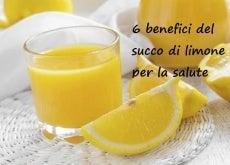 bicchiere succo di limone