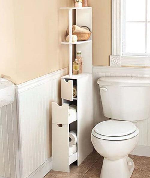 19 consigli per guadagnare spazio in bagno vivere pi sani - Tappetini per il bagno ...