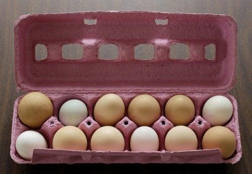 Confezione uova trucchi cucina