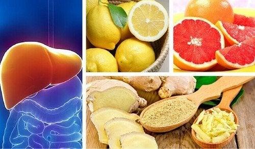 Depurazione di fegato e reni con agrumi e zenzero