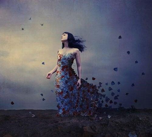 donna-abito-di-farfalle Hawking