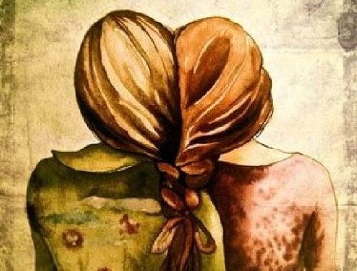 donne unite dai capelli persone che sommano