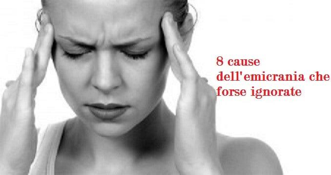 8 cause dell'emicrania che forse ignorate