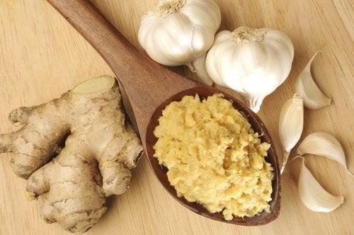 polpa di zenzero e aglio le arterie