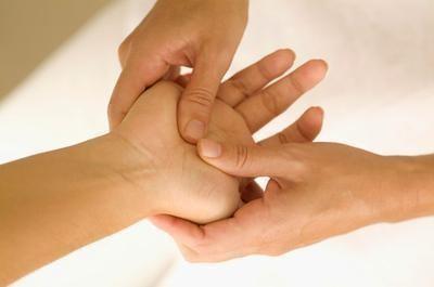 punti di pressione della mano