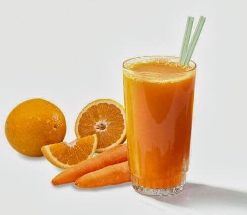 frullato -arancia-carota