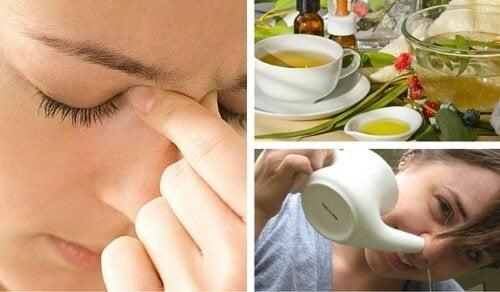 Curare la sinusite con 3 rimedi naturali