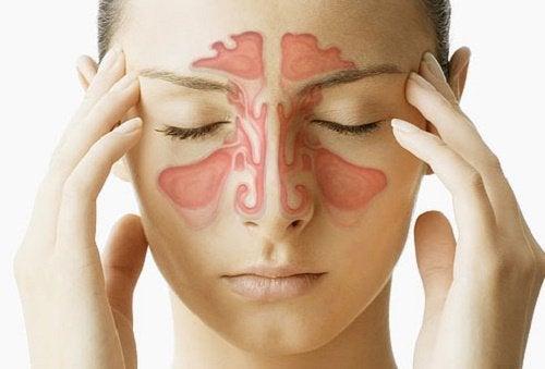Liberare il naso chiuso con il massaggio dei seni paranasali