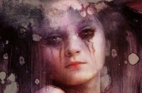 Donna triste pianto