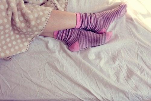 Calzini a letto